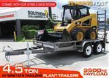 Interstate Trailers 4.5 TON PLANT TRAILER + CATERPILLAR 216B.3 CAT 216.B3 Skid Steer Loader