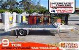 Interstate Trailers -- 9 TON Heavy Duty Tag Trailer With Tool box & Water tank