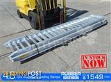 Aluminium Loading Ramps 4.8 Ton 400mm Wide Rubber Series