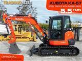#2148C KUBOTA 5.5Ton KX-57 U57 Excavator [7.2 hours] KX57 Steel Tracks with Rubber pads