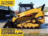 CATERPILLAR 259.B3 / 259B.3 CAT Compact Track Loader / Fitted with 4 in 1 bucket / Manual Hitch