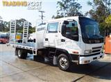 #2221A ISUZU 155HP FRR 500 Dual-Cab Tray Truck with ramps