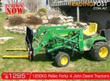 DIGGA 1200kg Agricultural Loader John Deere Tractors Pallet Forks