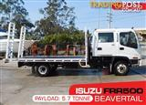ISUZU Tray-Top / Flatbed FRR550 Truck with ramps , Dual Cab