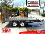 Interstate Trailers - 3.5 TON Moffett Trailer 3500kg Custom build Tailgater Forklifts Plant Trailers