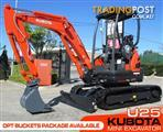 #2181 KUBOTA U25 2.5Ton Compact Excavator [Only 4.4 hours] with Hydraulic Quick Hitch