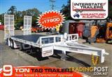 9 Ton Interstate Trailers Heavy Duty White Tag Trailer 9000kg ATM