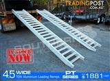 Aluminium Loading Ramps 4.5 Ton 550mm Wide PT Series