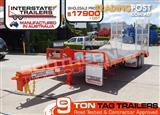 9 Ton ATM Interstate Trailers Heavy Duty 9000kg Tag Trailer Orange