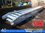 Aluminium Loading Ramps 4.0 Ton 400mm Wide Rubber Series