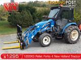 DIGGA 1200kg Agricultural Loader Pallet Forks to suit New Holland Tractors