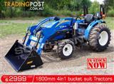 DIGGA 1600mm 4 in 1 Bucket suit Tractor Front End Loader