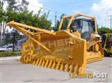 INCOMING CATERPILLAR D5M XL Bulldozer Stick Rake & Tree Spear fitted