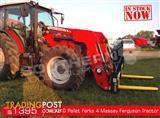 DIGGA 1600kg Agricultural Loader Pallet Forks to suit Massey Ferguson Tractors