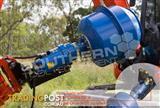 180L Cement Mixer Bowl 75mm Square Auger Shaft to suit Excavators