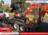 Consignment Combo package - 3.5 TON PLANT TRAILER with Kubota U25 2.5T mini Excavator & attachments