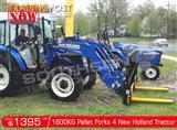 DIGGA 1600kg Agricultural Loader New Holland Tractors Pallet Forks