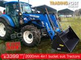 DIGGA 2000 mm 4 in 1 Bucket suit Tractor Front End Loader