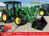 DIGGA 1800 mm 4 in 1 Bucket suit Tractor Front End Loader