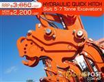 Hydraulic QUICK HITCHES Suits 5 to7T Kubota Excavators