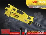 UBT50S Moil & Wedge Tools combo for Hydraulic Hammer