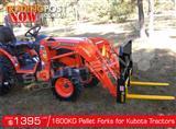 DIGGA 1600kg Agricultural Loader Kubota Tractors Pallet Forks
