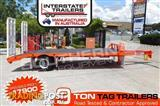 Interstate Trailers 9 Ton ATM Heavy Duty 9000kg Tag Trailer Orange