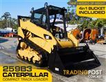 CAT 259B.3 / CATERPILLAR 259.B3 Compact Track Loader / Fitted with 4 in 1 bucket / Manual Hitch