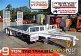 Interstate Trailers 9000kg ATM Heavy Duty 9 Ton Tag Trailer White
