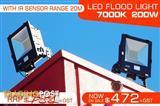 200W IP65 Water proof LED FLOOD Light - 7000k. 240V/50Hz.