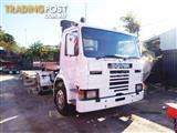 #2176 SCANIA P82M 4x2 Prime mover Truck with Low Loader 275HP. 434,000 KM