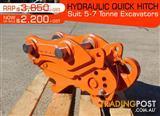 Kubota Excavators Hydraulic QUICK HITCHES Suits 5 to 7T Excavators