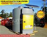 Bunded 10,000 litre 12 volt diesel stations with solar panel [DMDS10000R12s][TFBUND]