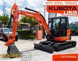 #2190 KUBOTA U55 [5.5Ton] Steel Tracks Compact Excavator [ONLY 5.4 HOURS]