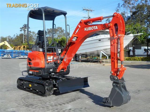 KUBOTA-U17-Mini-Excavator-1-7-Ton-Unused