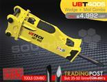 UBT400S Moil point Tool for Hydraulic Hammer / Rock Concrete Breaker Suit 35-50 Tonne Excavators