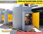 COMPLIANT BUNDED DIESEL STATIONS 10,000 LITRE - 240VOLT DMDS10000R240