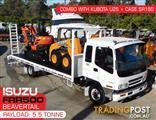 COMBO ISUZU F3 FRR500 BEAVERTAIL Truck + Kubota U25 + CASE SR160