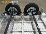 8X5 ALUMINIUM TANDEM AXLE TRAILER WITH MECHANICAL DISC BRAKES AND CAGE