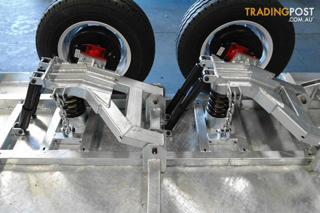 Kessner trailers 8x5 galvanised tandem independant for 4 box auto in tandem