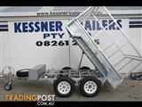 KESSNER TRAILERS- 8x5 GALVANISED HYDRAULIC TIPPER TRAILER WITH CAGE, TILT TRAILER, TIPPER TRAILER, ELECTRIC TIPPER TRAILER
