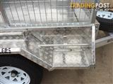 KESSNER TRAILERS - 7X4 ALUMINIUM SINGLE AXLE TRAILER + BRAKES WITH CAGE