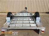 8X5 ALUMINIUM SINGLE AXLE TRAILER WITH MECHANICAL DISC BRAKES AND CAGE