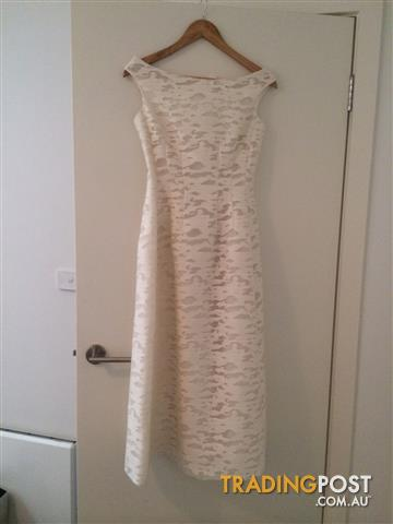 Carla Zampatti Ivory Florantine Princess Gown