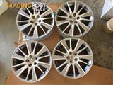 """4x 19"""" Genuine Toyota Kluger Grande wheels"""