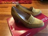 Diana Ferrari Mustard Leather Heels
