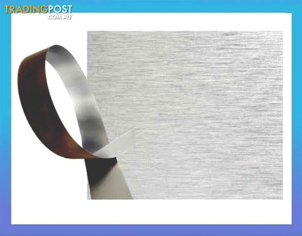 Brushed Stainless Laminate Kitchen Kickboard Plinth
