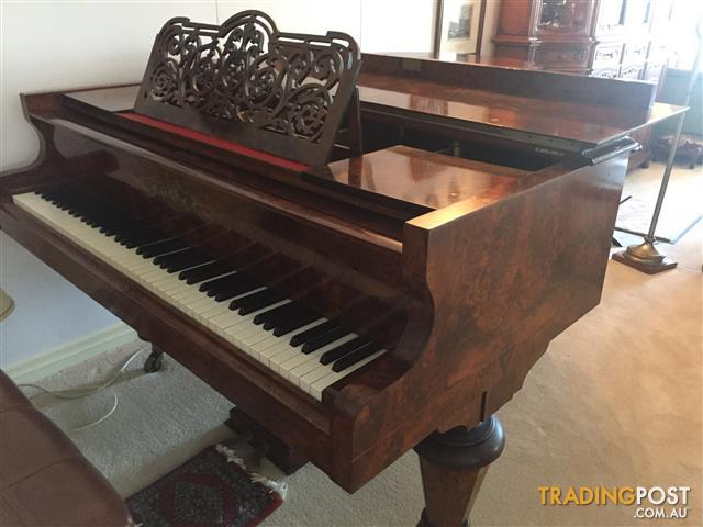 Lipp sohn grand piano 1880 39 s parlour size for sale in for What size is a grand piano