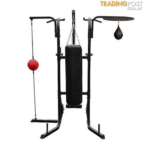power boxing station stand gym speed ball punching bag 7. Black Bedroom Furniture Sets. Home Design Ideas