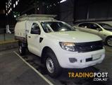 12 FORD RANGER PX XL HI-RIDER CC 2DR SA 6SP 4X2 1514KG 2.2DT  CAB CHASSI S